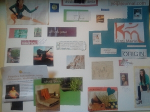 A very blurry picture of my vision board